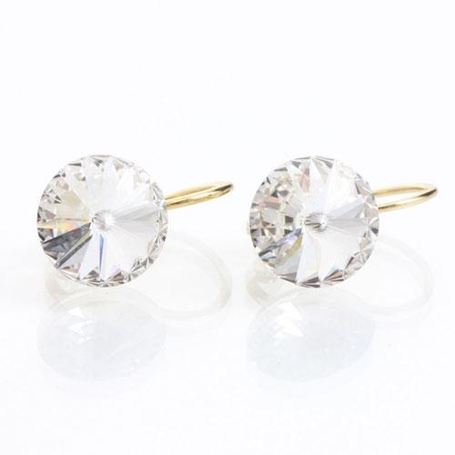 Náušnice s krystaly Swarovski Rivoli Gold Crystal
