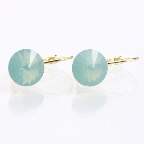 Náušnice s krystaly Swarovski Rivoli Gold Opal
