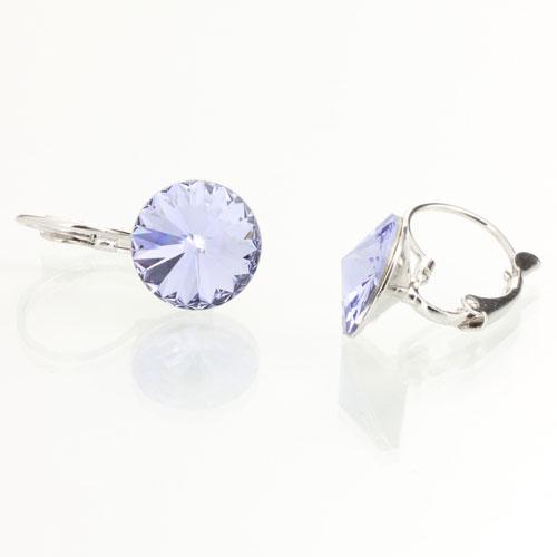 Náušnice s krystaly Swarovski Rivoli 12 Light Violet