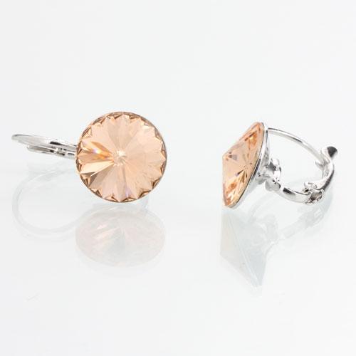 Náušnice s krystaly Swarovski Rivoli 12 Light Peach