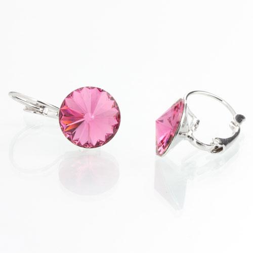 Náušnice s krystaly Swarovski Rivoli 12 Rose