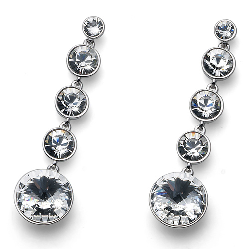 Náušnice s krystaly Swarovski Oliver Weber Pend Crystal