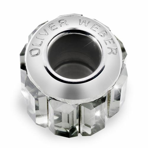 Přívěsek s krystaly Swarovski Oliver Weber Match Baguette Crystal