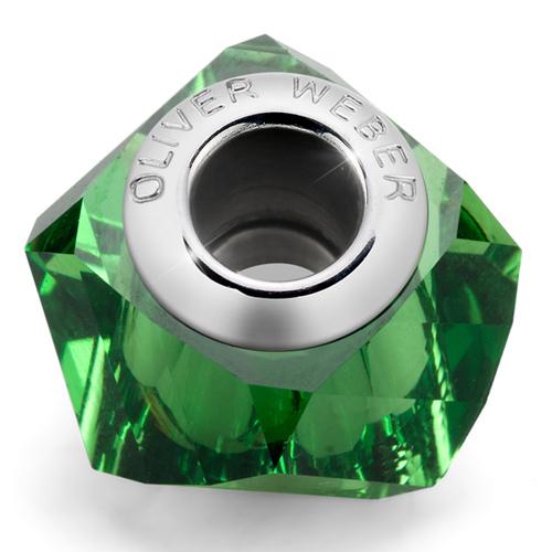 Přívěsek s krystaly Swarovski Oliver Weber Match Helix Large Green