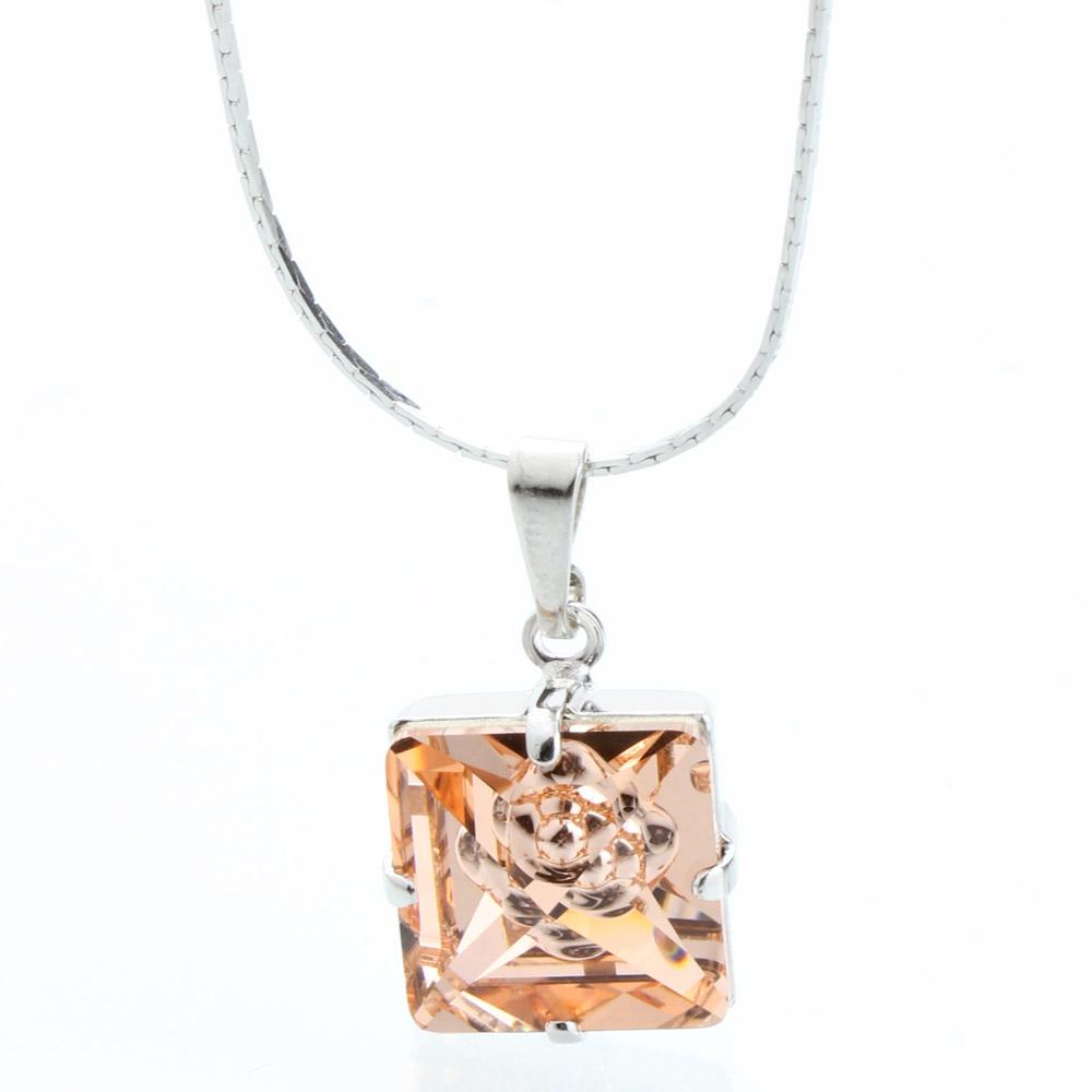 Přívěsek s krystaly Swarovski 61300072PEACH