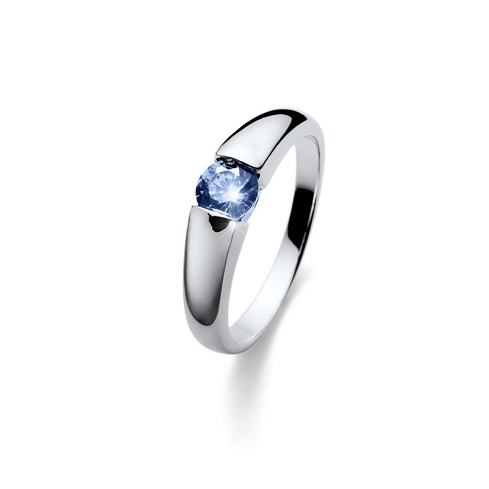 Stříbrný prsten s krystaly Swarovski Oliver Weber Tender 63224-BLU