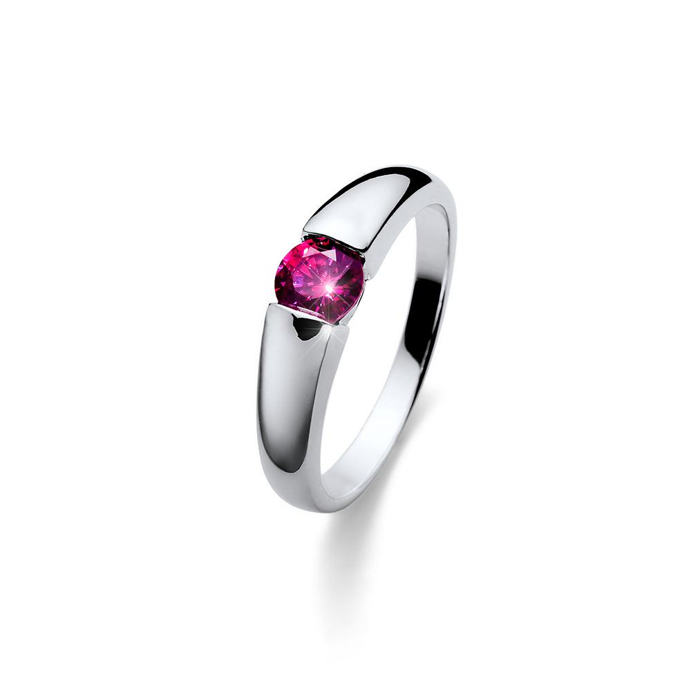 Stříbrný prsten s krystaly Swarovski Oliver Weber Tender 63223-PIN