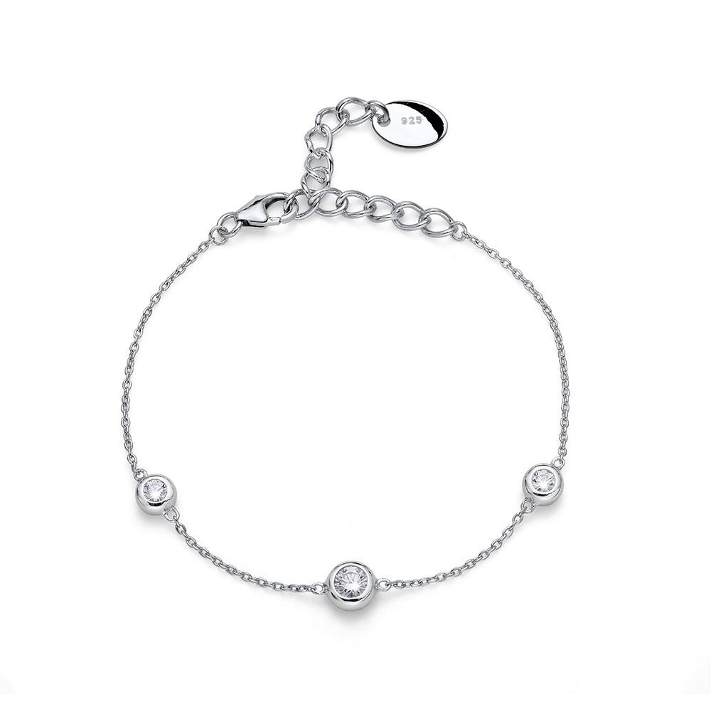 Stříbrný náramek s krystaly Swarovski Oliver Weber Tres 63519