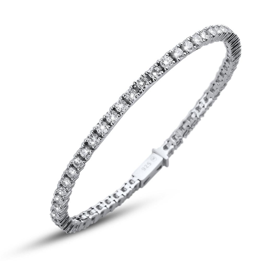Stříbrný náramek s krystaly Swarovski Oliver Weber Classic 63520