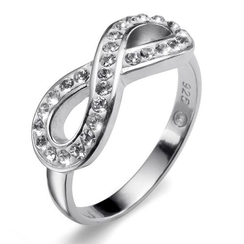 Prsten s krystaly Swarovski Oliver Weber Infinity