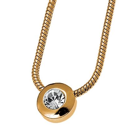 Přívěsek s krystaly Swarovski Oliver Weber Diamond Gold