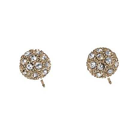 Náušnice s krystaly Swarovski Oliver Weber Ball Gold