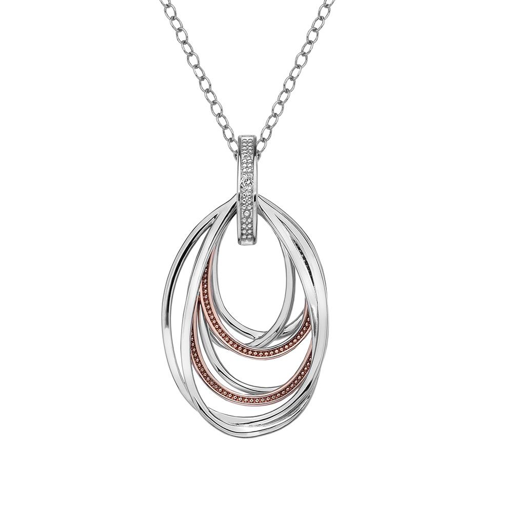 Stříbrný přívěsek Hot Diamonds Chandelier Vintage Rose Gold