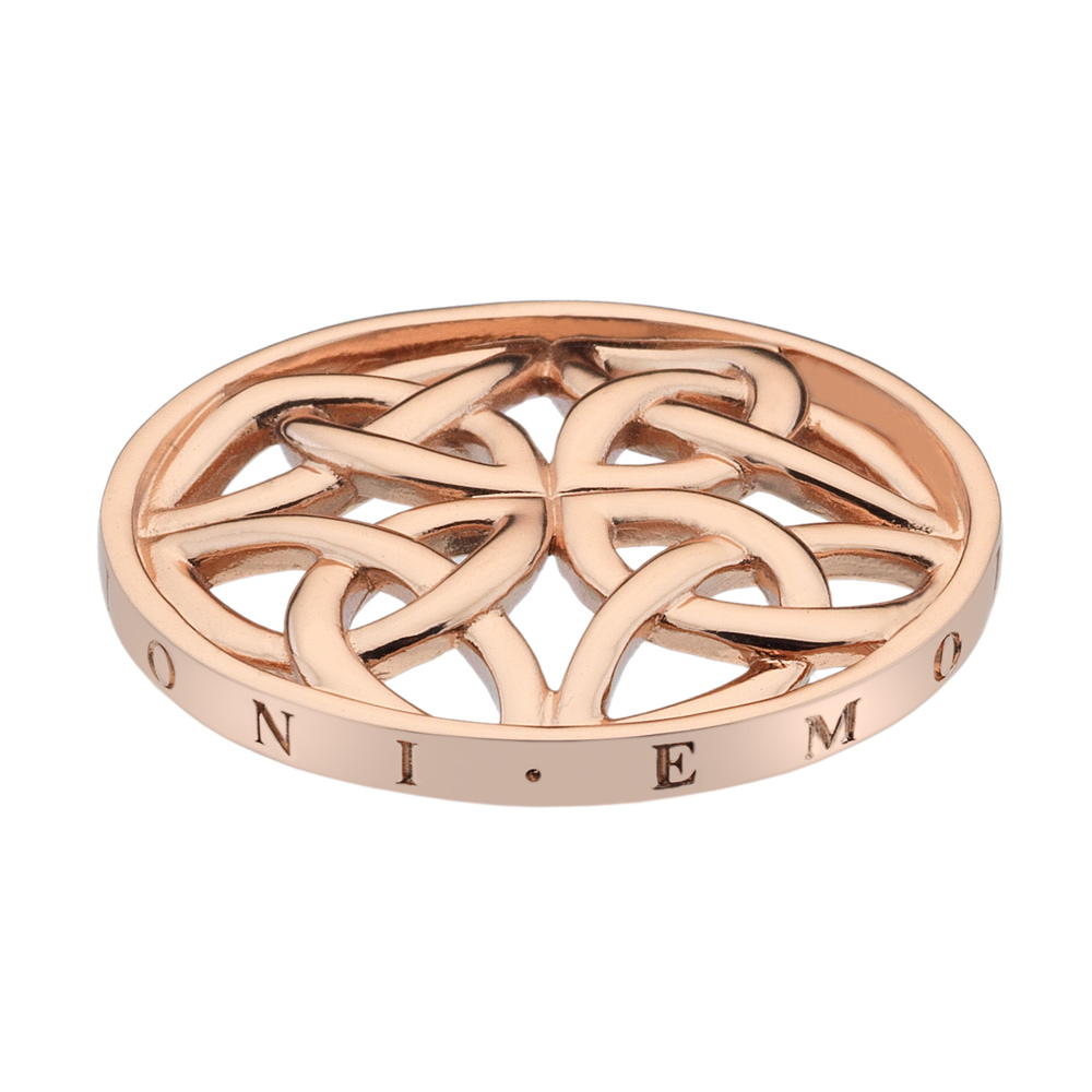 Pøívìsek Hot Diamonds Emozioni Celtic Cross Rose Gold Coin