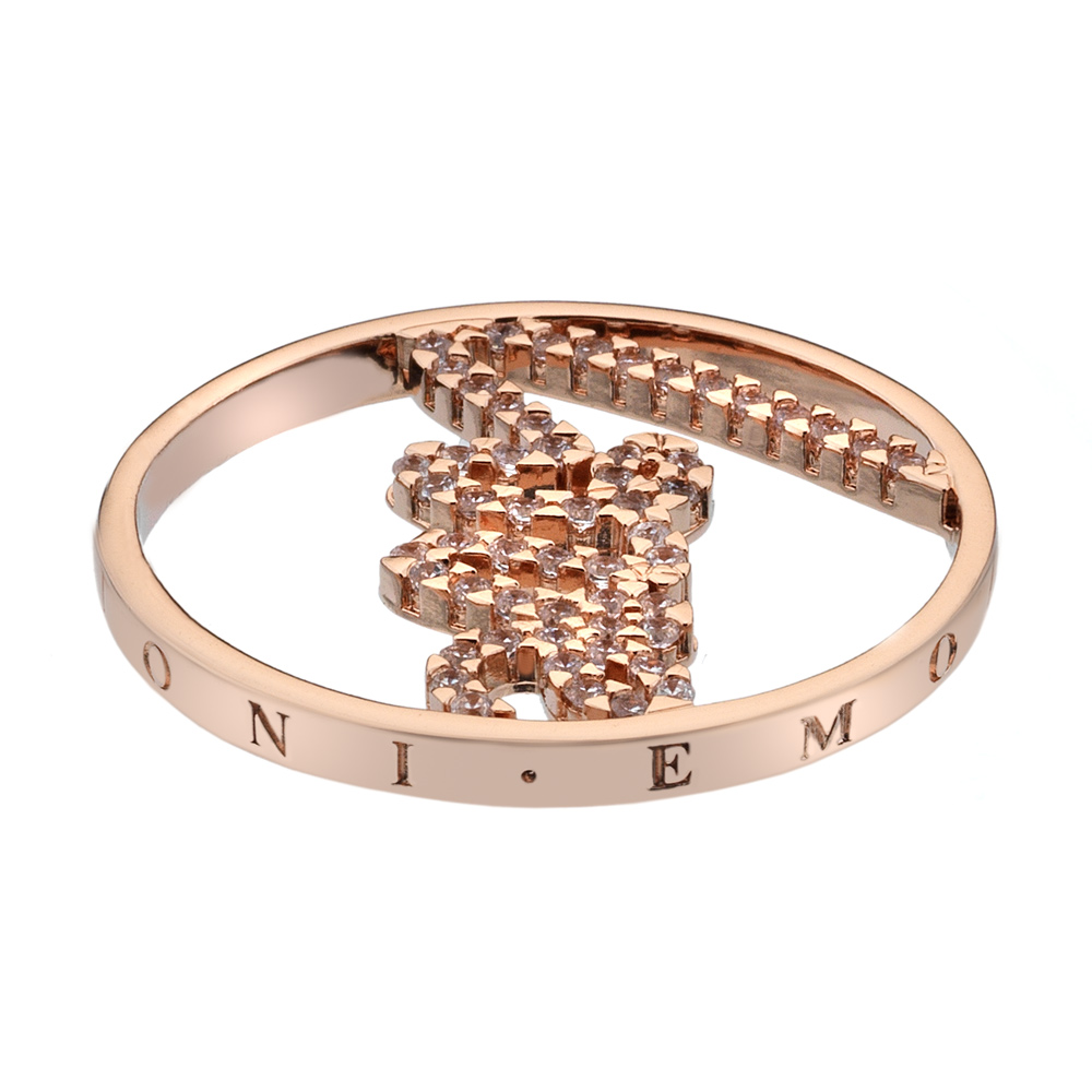 Pøívìsek Hot Diamonds Emozioni Sparkle Love Rose Gold Coin