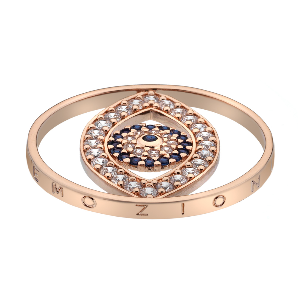 Pøívìsek Hot Diamonds Emozioni Eye Sparkle Rose Gold Coin