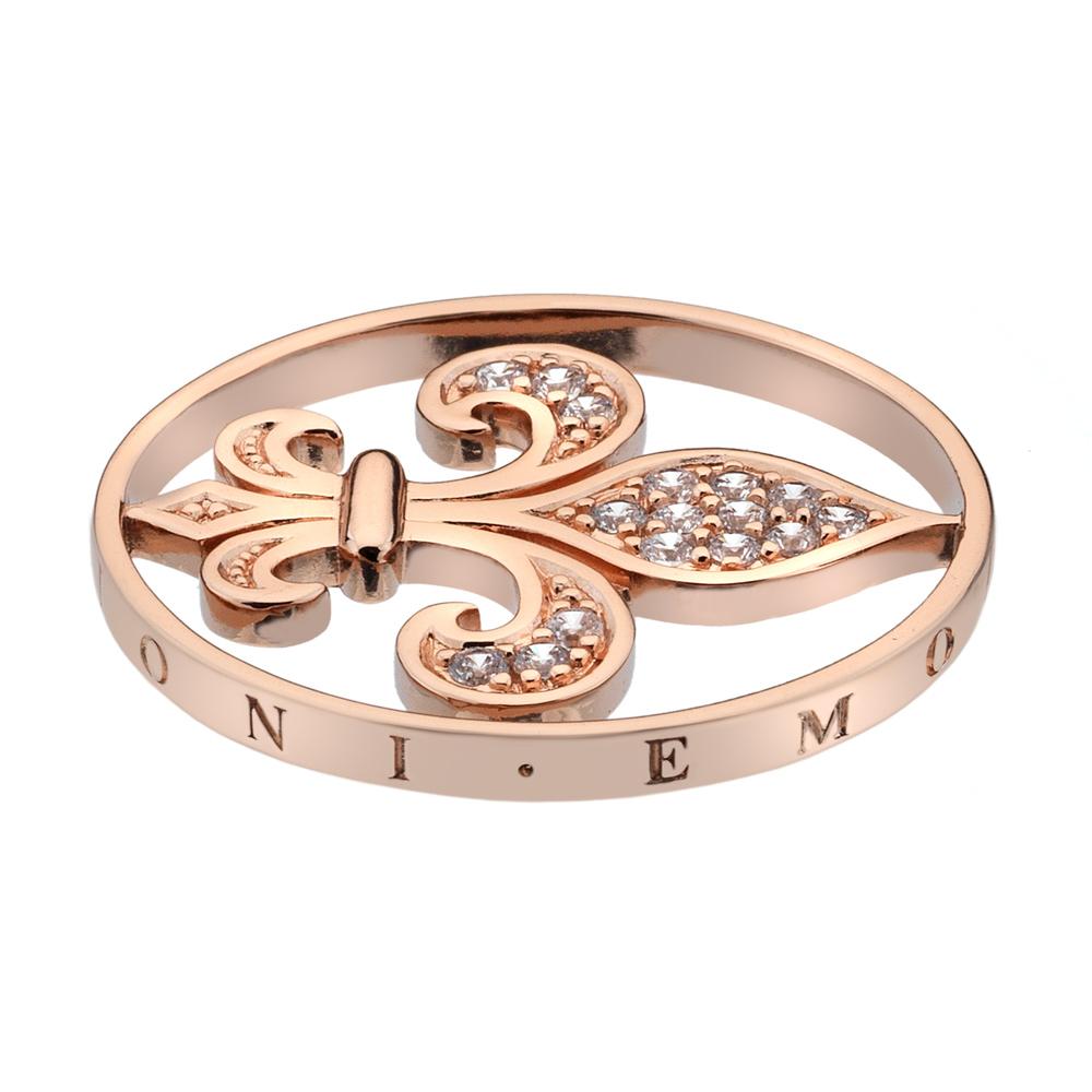 Přívěsek Hot Diamonds Emozioni Fleur De Ley Rose Gold Coin