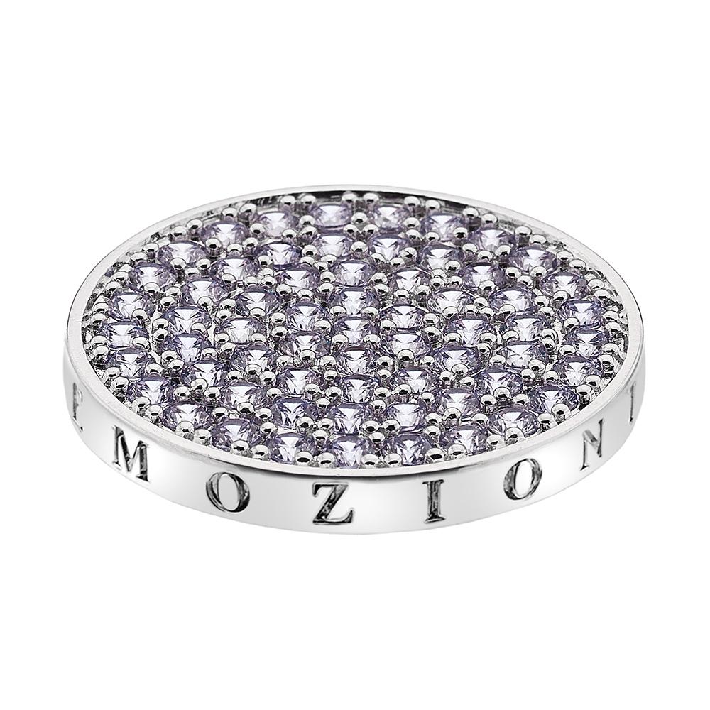 Pøívìsek Hot Diamonds Emozioni Scintilla Lavender Calmness Coin