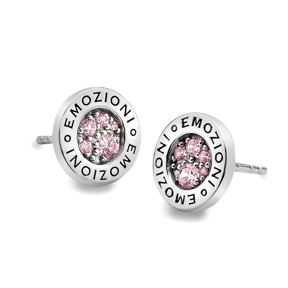 Støíbrné náušnice Hot Diamonds Emozioni Scintilla Pink Compassion