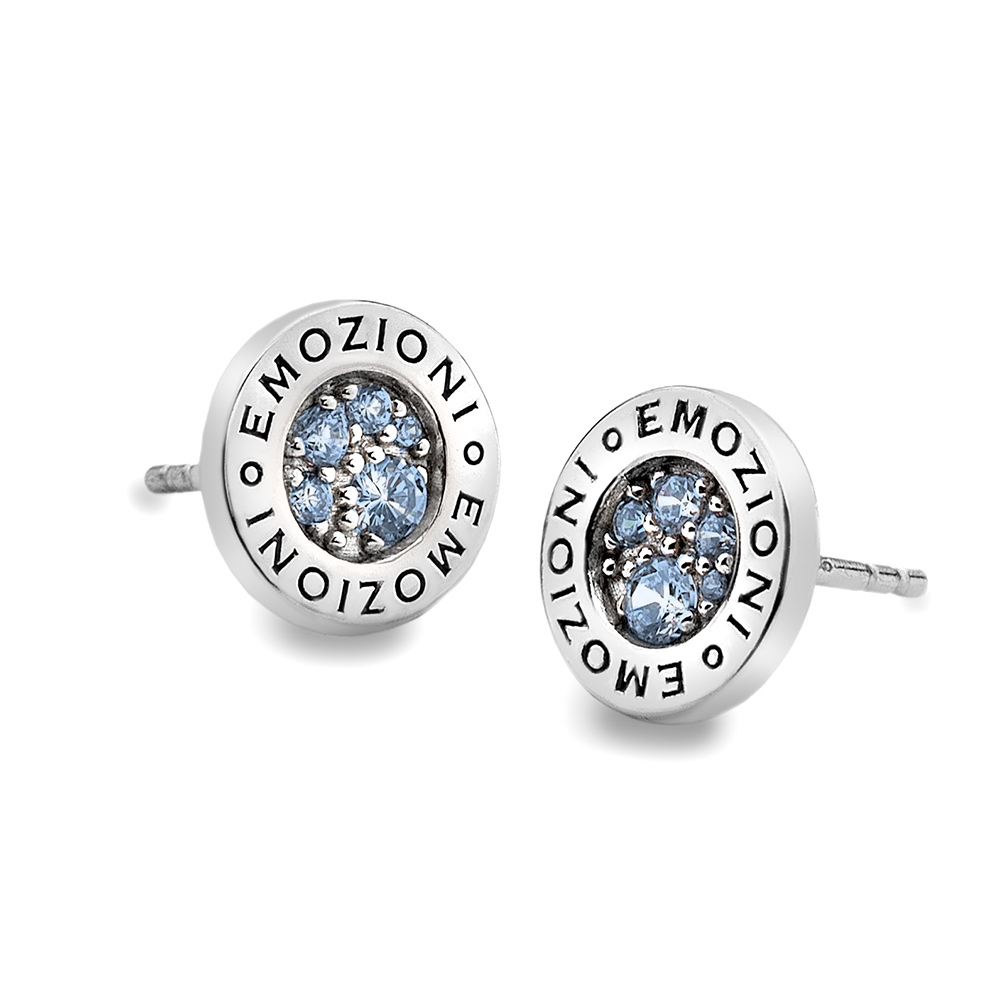 Støíbrné náušnice Hot Diamonds Emozioni Scintilla Blue Peace
