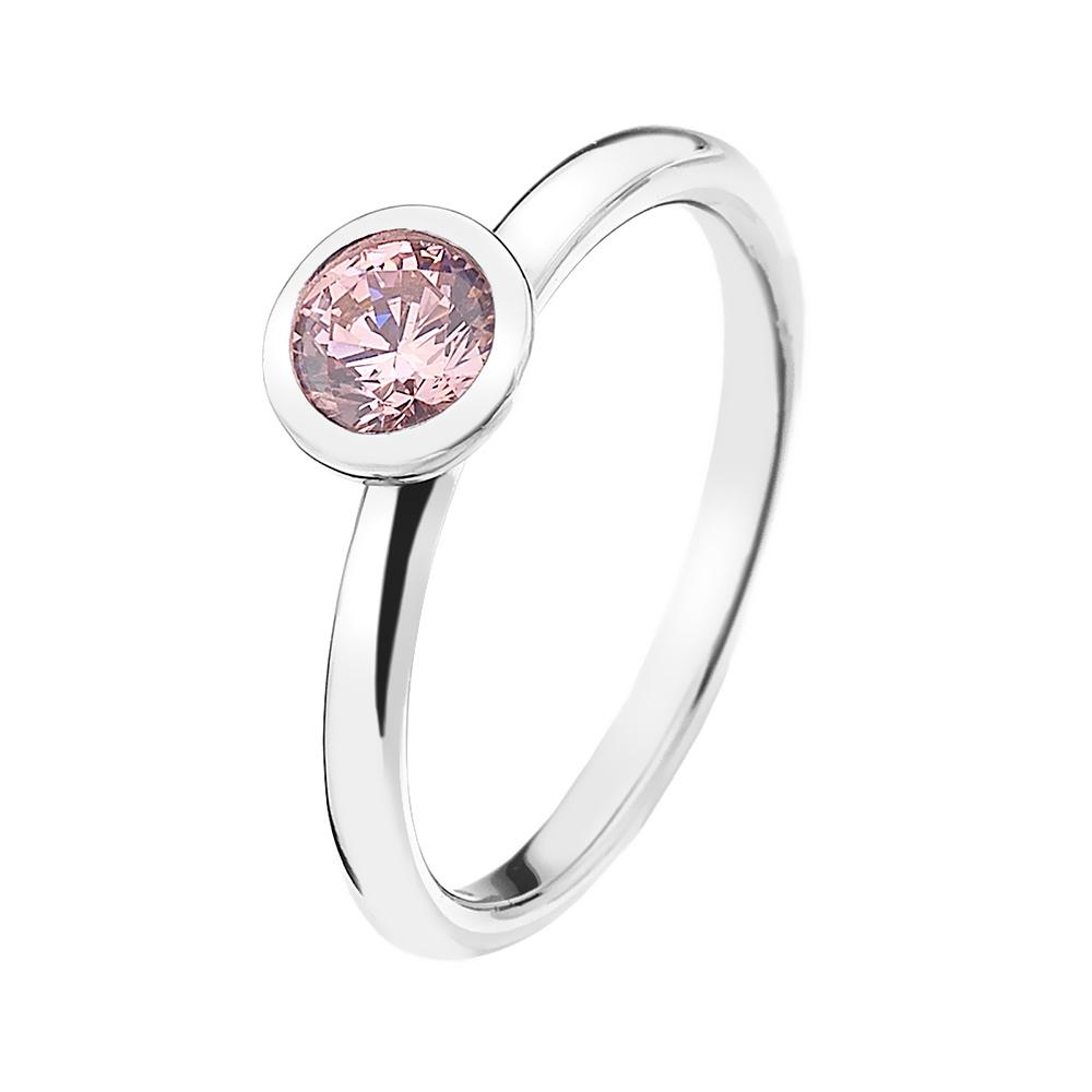 Stříbrný prsten Hot Diamonds Emozioni Scintilla Pink Compassion