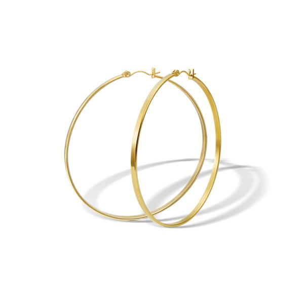 Náušnice z chirurgické oceli ESH37-GOLD