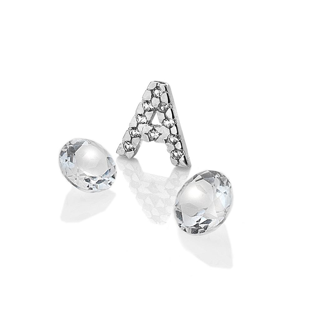 Pøívìsek Hot Diamonds Abeceda Anais element EX220