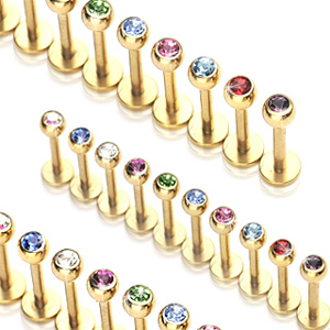 Pozlacený piercing Labreta LB01033