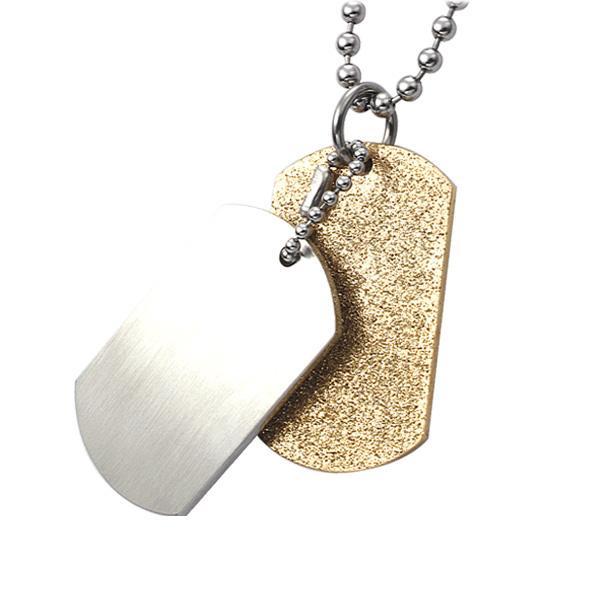 Přívěsek z chirurgické oceli  PSS230-GOLD