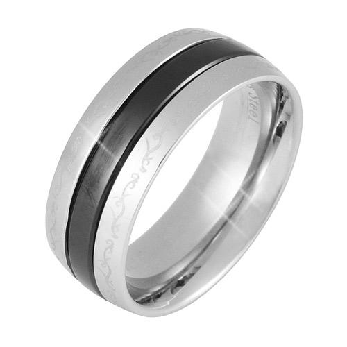 Prsten z chirurgické oceli  RSSLB19