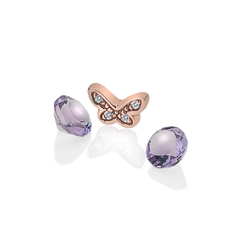 Støíbrný pøívìsek Hot Diamonds Anais amethyst element RG AC113