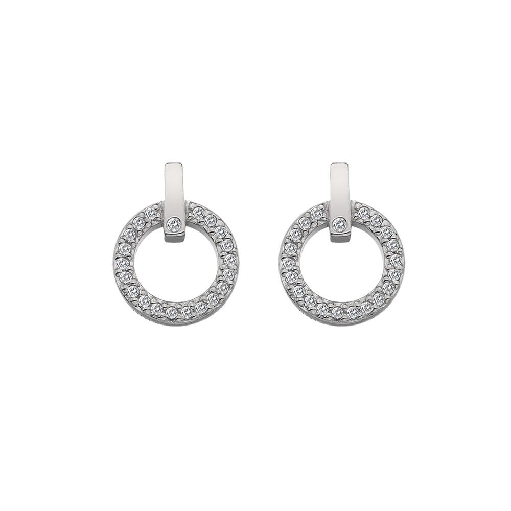 Støíbrné náušnice Hot Diamonds Flora DE580