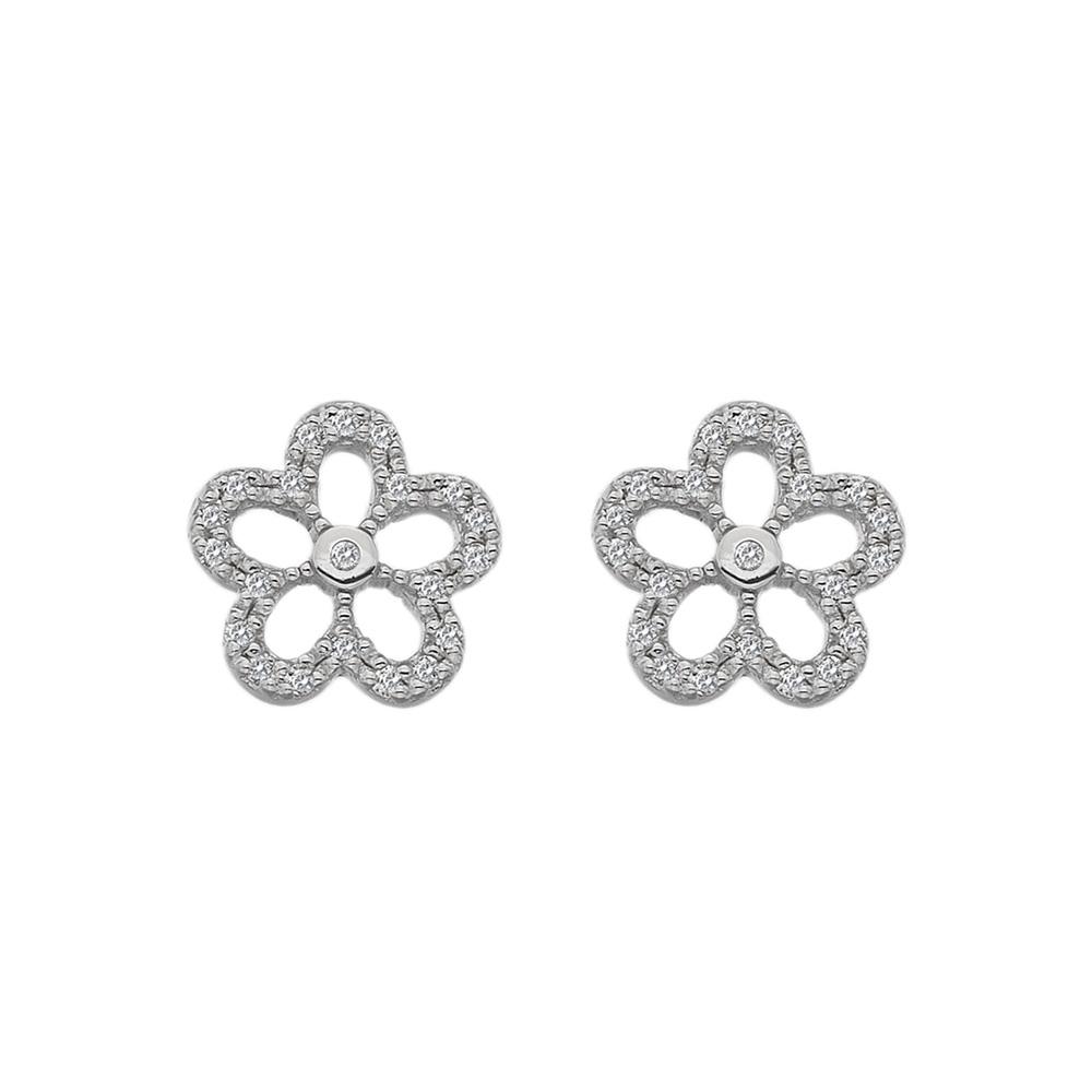 Støíbrné náušnice Hot Diamonds Daisy DE583