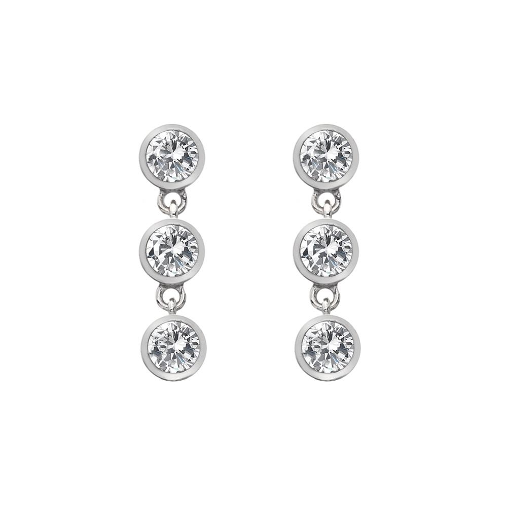 Støíbrné náušnice Hot Diamonds Willow DE585