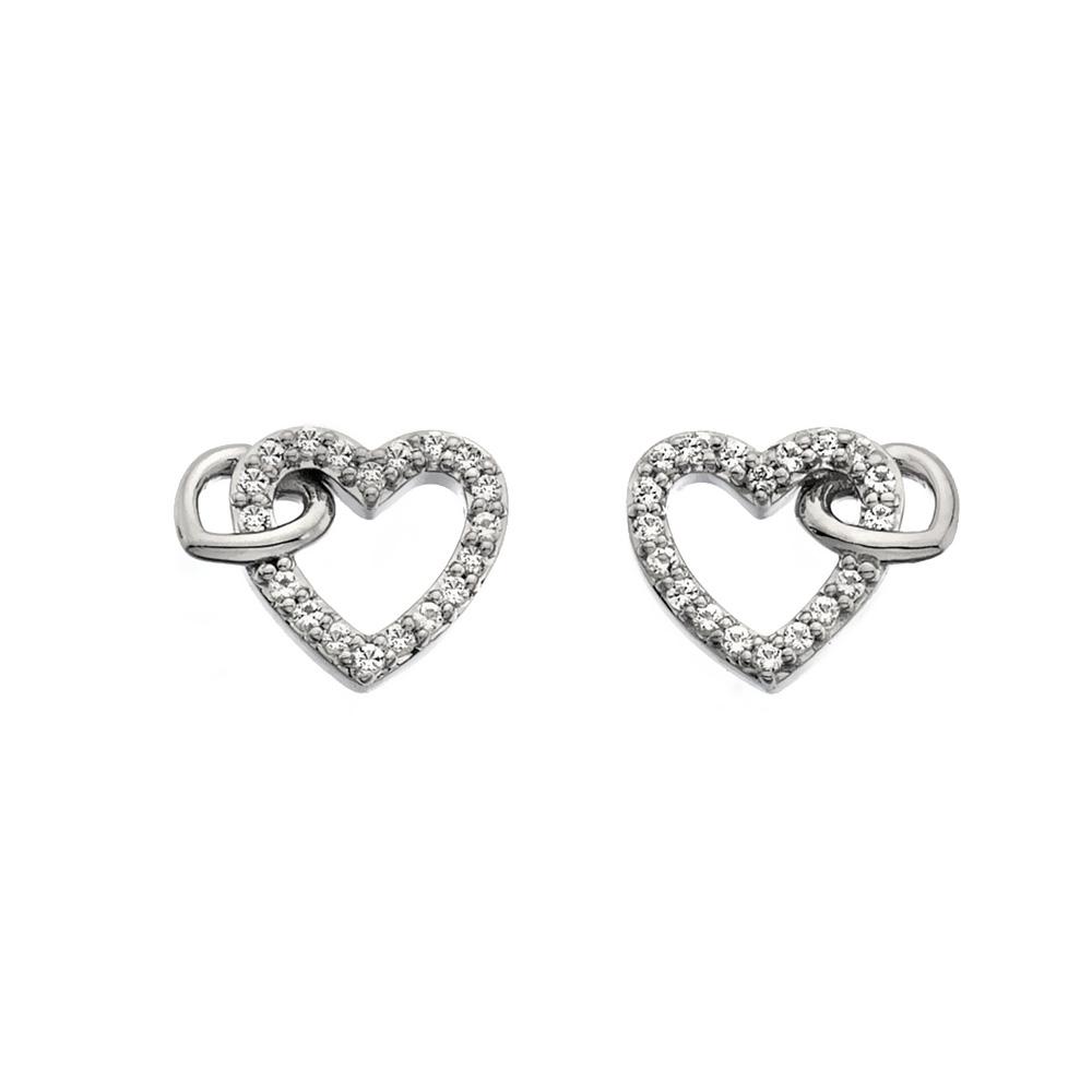 Støíbrné náušnice Hot Diamonds Flora DE605