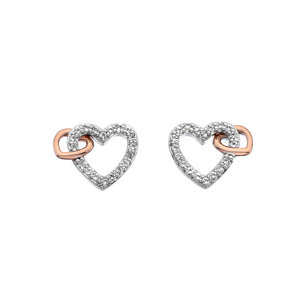 Støíbrné náušnice Hot Diamonds Flora RG DE606