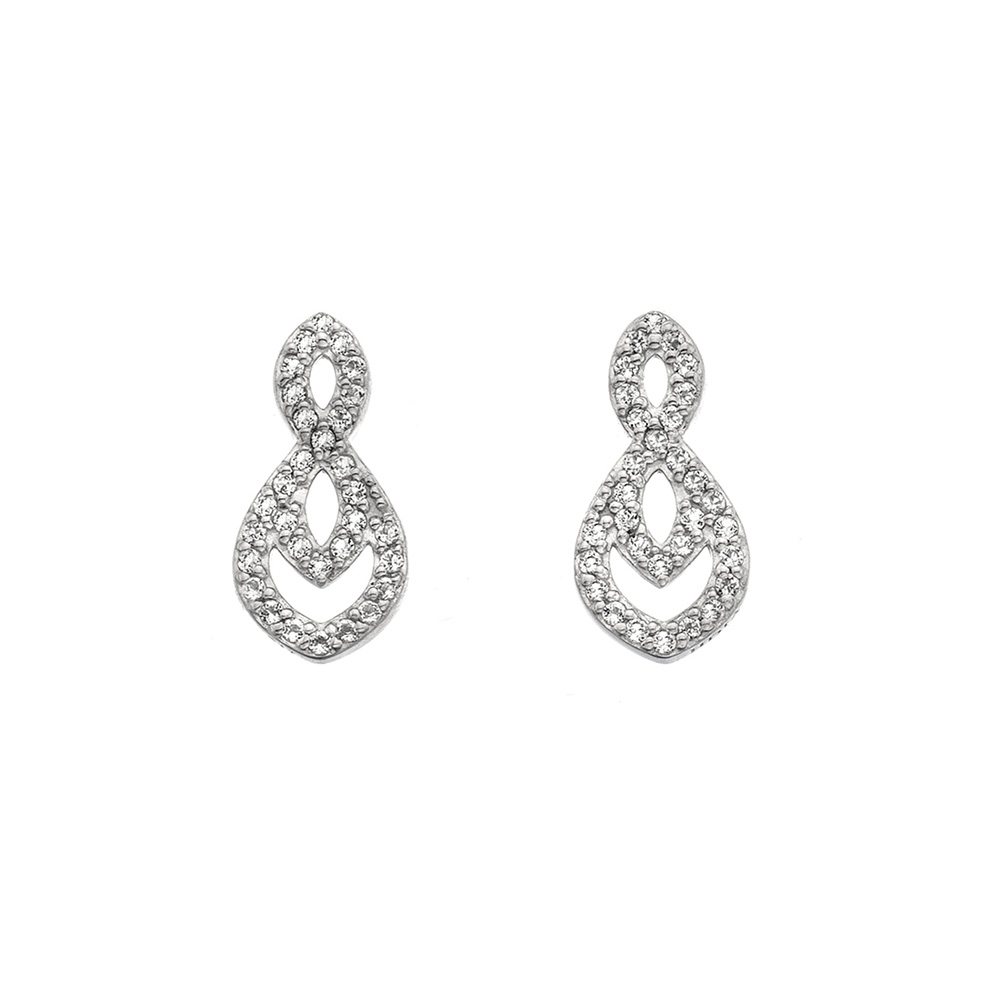 Støíbrné náušnice Hot Diamonds Lily DE609