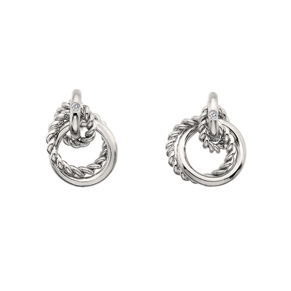 Støíbrné náušnice Hot Diamonds Jasmine DE610