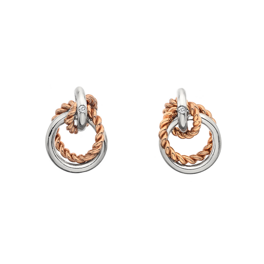 Støíbrné náušnice Hot Diamonds Jasmine RG DE611