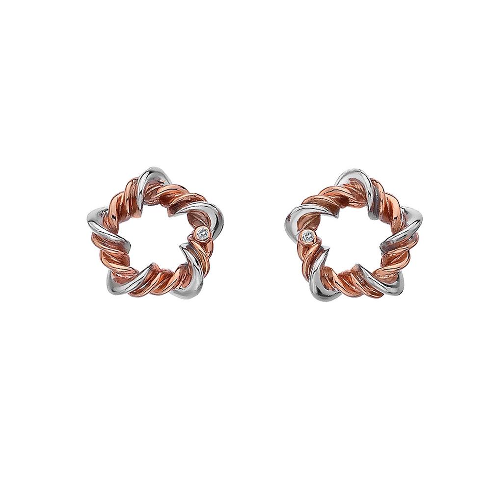 Náušnice Hot Diamonds Vine RG DE620