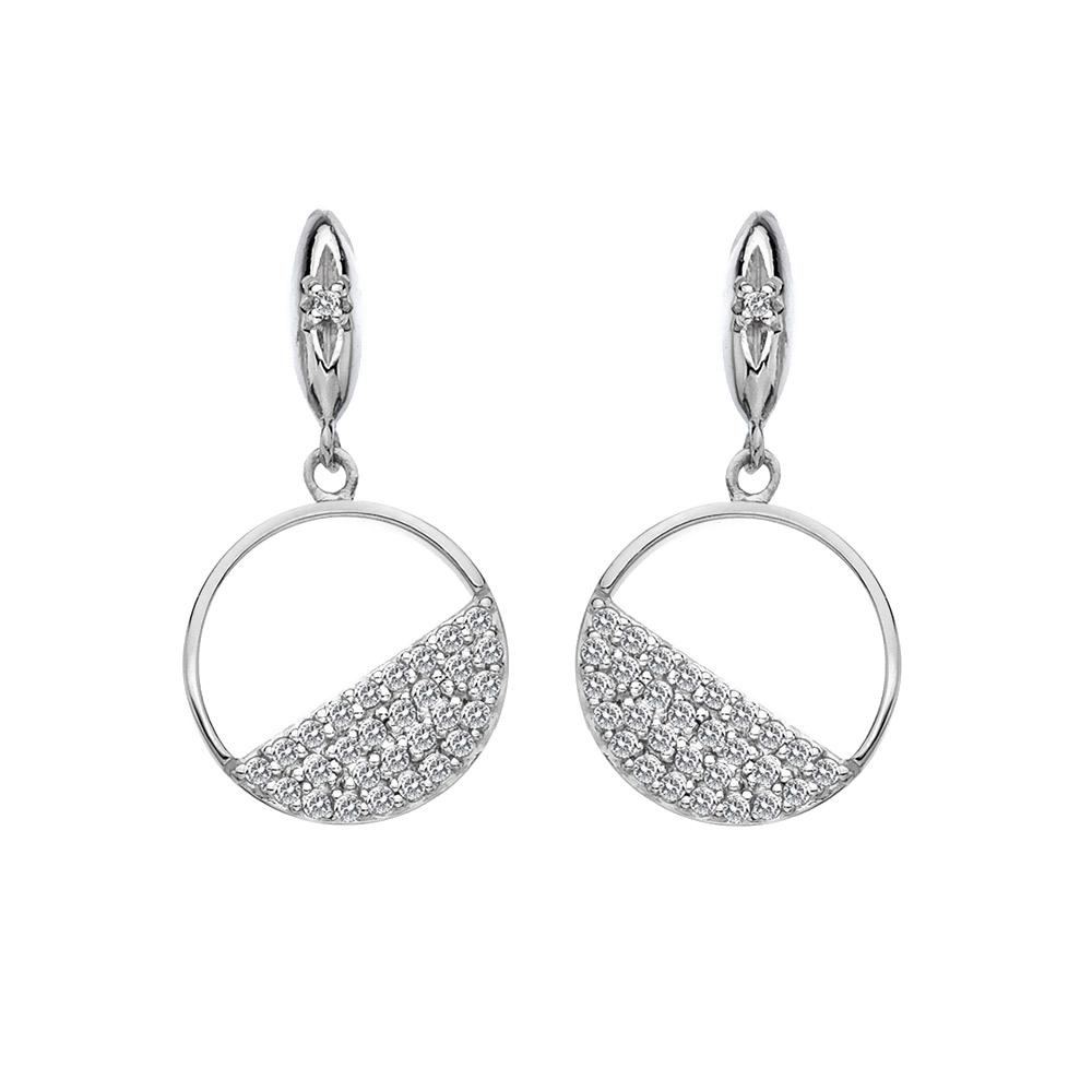 Stříbrné náušnice Hot Diamonds Horizon Topaz DE621