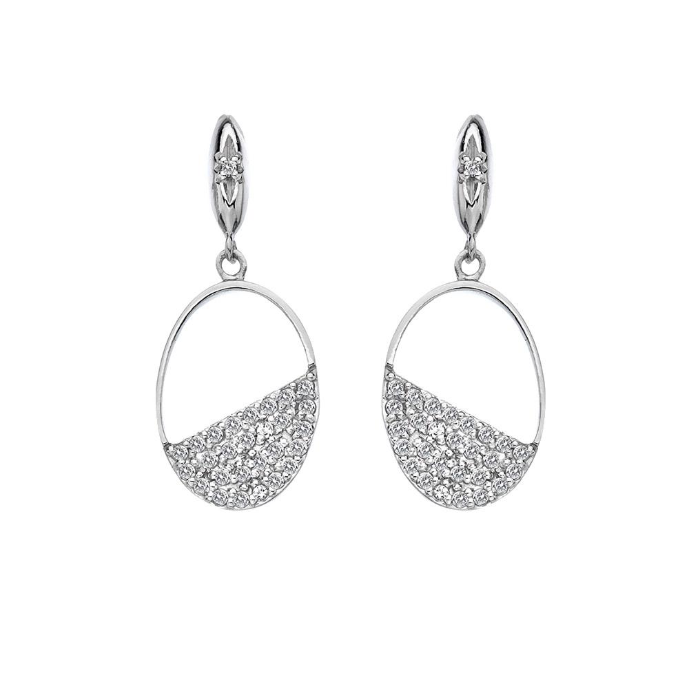 Stříbrné náušnice Hot Diamonds Horizon Topaz DE622