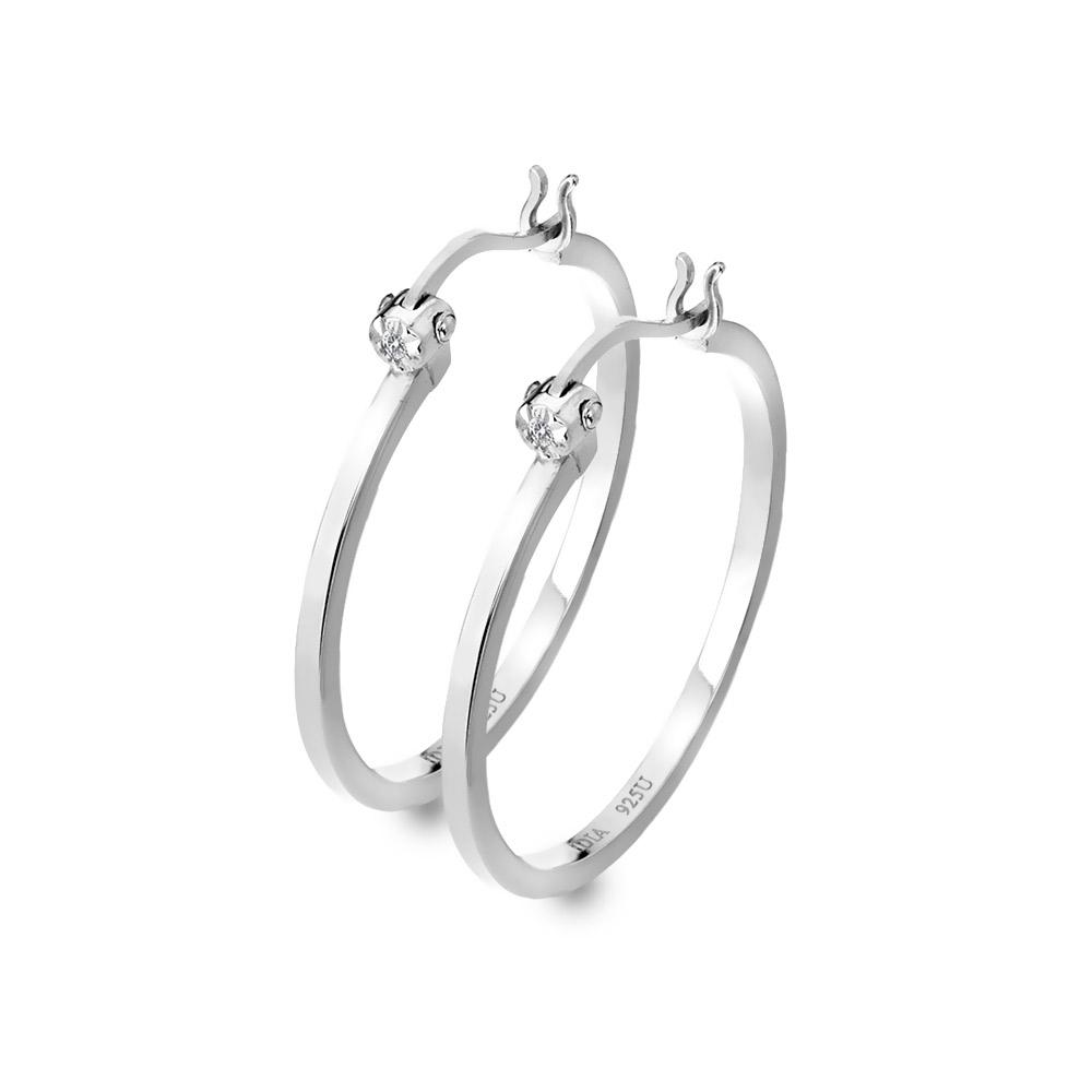 Stříbrné náušnice Hot Diamonds Hoops DE625