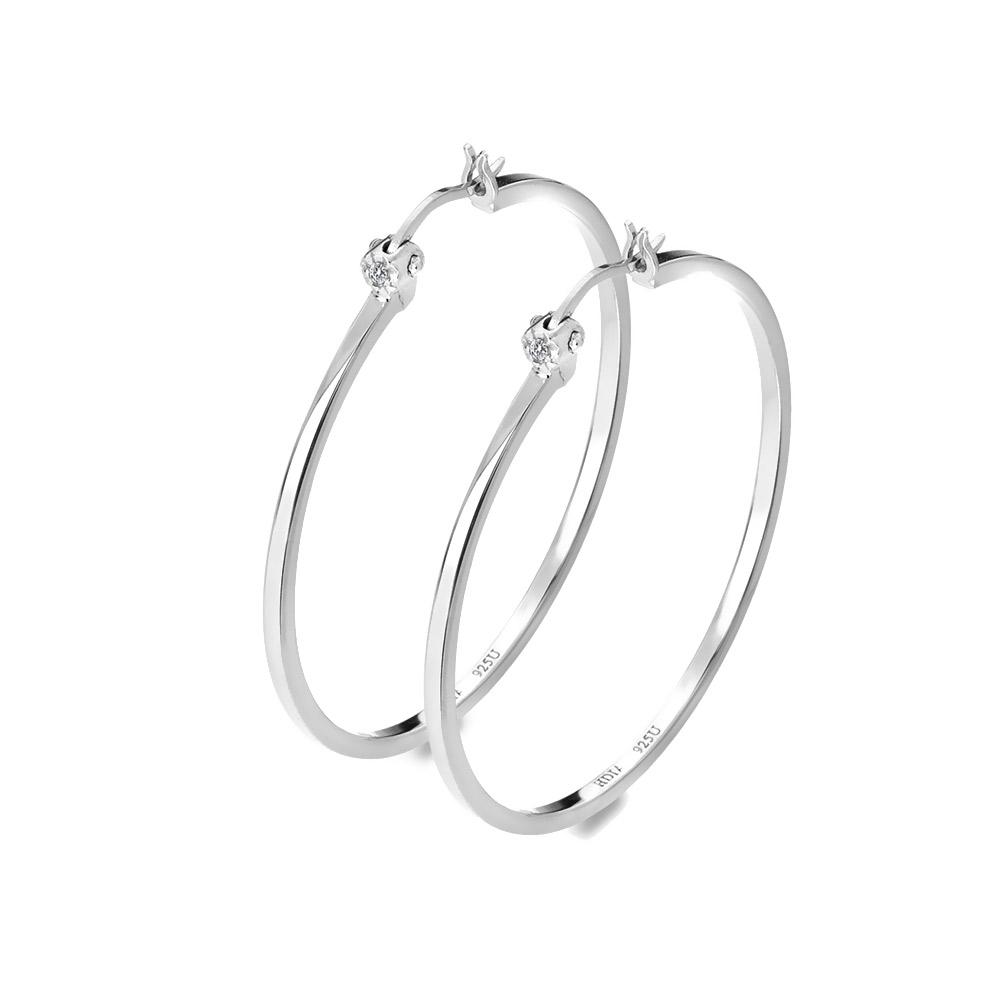 Stříbrné náušnice Hot Diamonds Hoops DE626