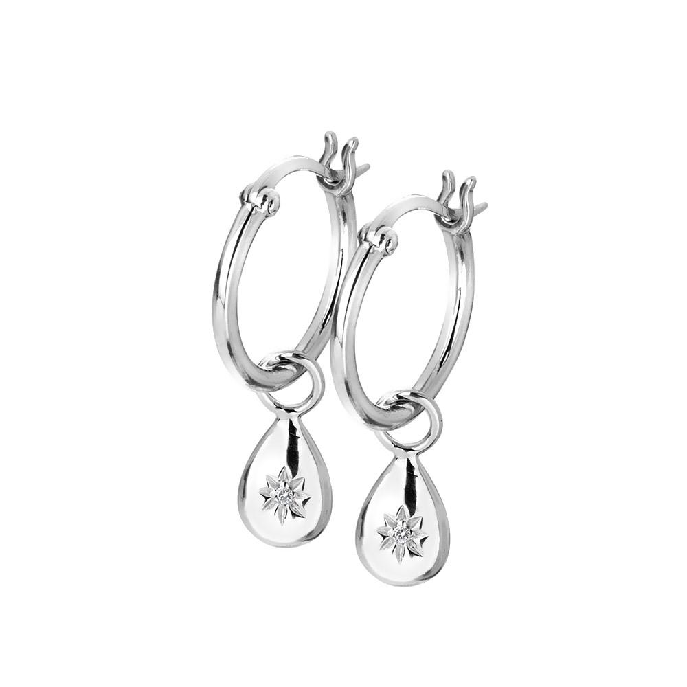 Stříbrné náušnice Hot Diamonds Hoops DE627