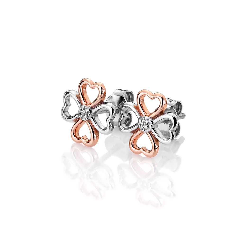 Stříbrné náušnice Hot Diamonds Lucky in Love RG DE633