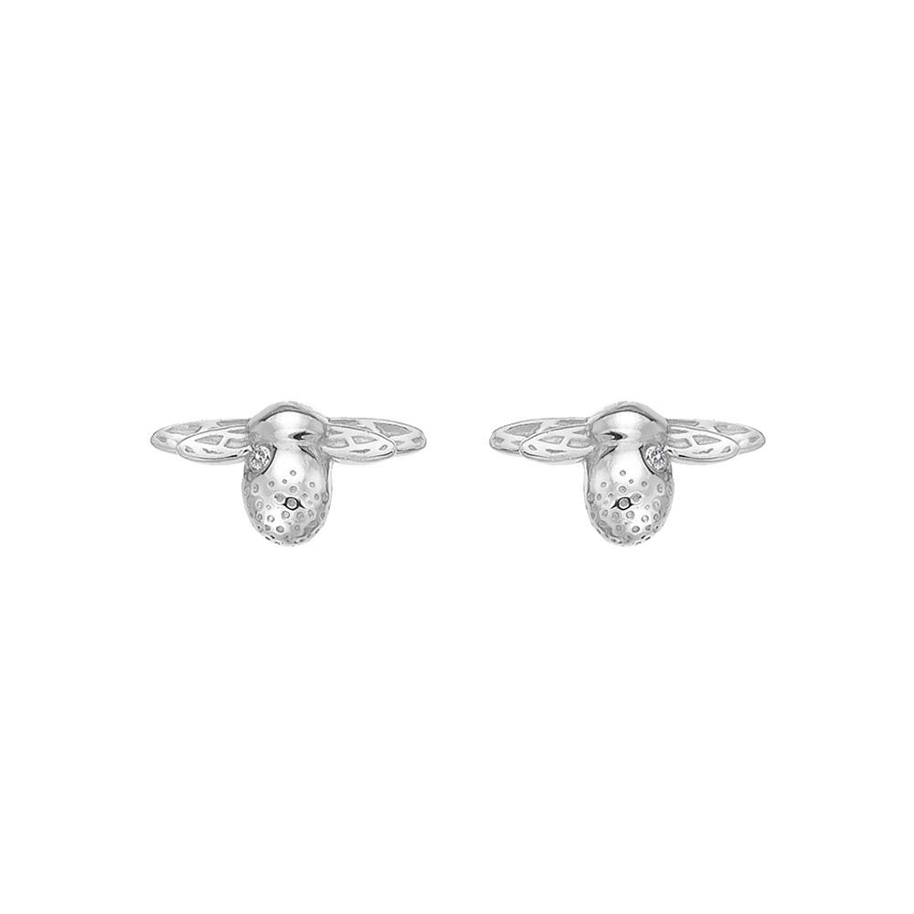 Stříbrné náušnice Hot Diamonds Nature BeeDE638