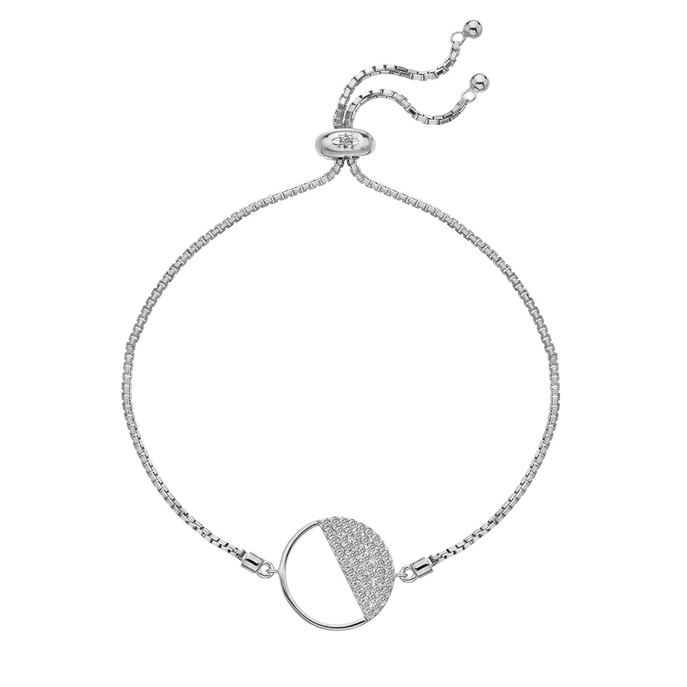 Stříbrný náramek Hot Diamonds Horizon Topaz DL601
