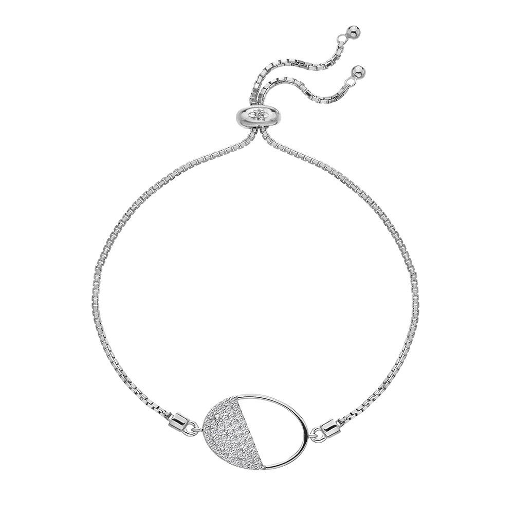 Stříbrný náramek Hot Diamonds Horizon Topaz DL602