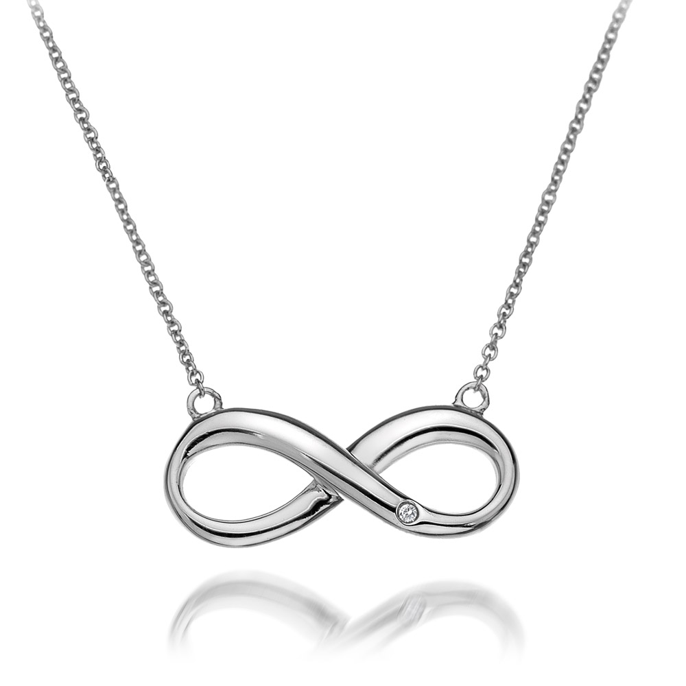 Stříbrný náhrdelník Hot Diamonds Infinity